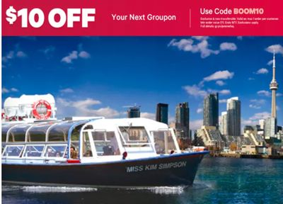 Groupon Canada Offers: Today, Save $10 off Your Next Groupon, with Coupon Code!