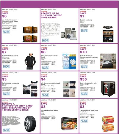 Costco Canada MoreSavings Weekly Coupons/Flyers for: Ontario, New Brunswick, Newfoundland & Labrador and Nova Scotia, Until September 27