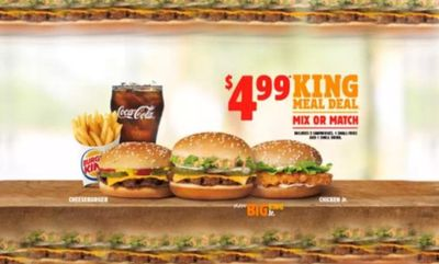 $4.99 King Meal Deal at Burger King