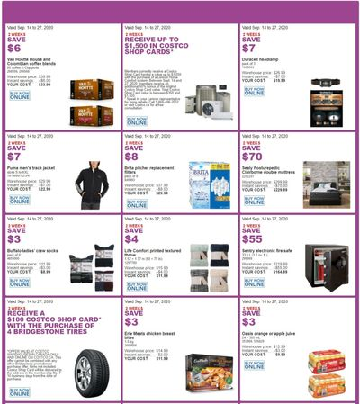 Costco Canada More Savings Weekly Coupons/Flyers for: Quebec, until September 27