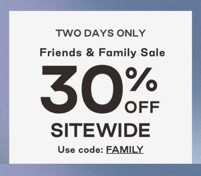 TOMS Canada Friends & Family Sale: Save 30% off Sitewide with Coupon Code!