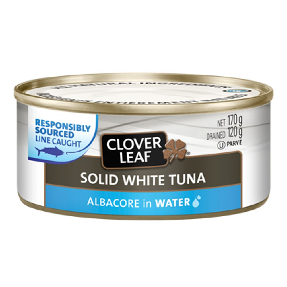 Save $1, Buy 2 CLOVER LEAF ALL NATURAL White/Albacore Tuna-170g, Yellowfin Tuna-142g in Water