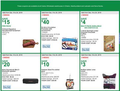 Costco Canada MoreSavings Weekly Coupons/Flyers for: Ontario, New Brunswick, Newfoundland & Labrador and Nova Scotia, December 9 – 24