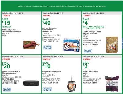 Costco Canada More Savings Weekly Coupons/Flyers for Western Canada: British Columbia, Alberta, Saskatchewan & Manitoba, December 9 – 24