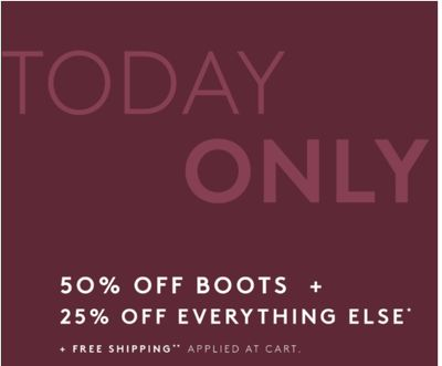 Naturalizer Canada Holiday Sale: Save 50% off Boots + 25% off Everything Else & FREE Shipping with Coupon Code