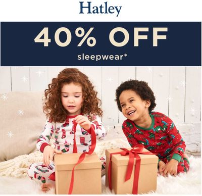 Hatley Canada Holiday Flash Sale: Today, Save 40% off Sleepwear with Coupon Code!