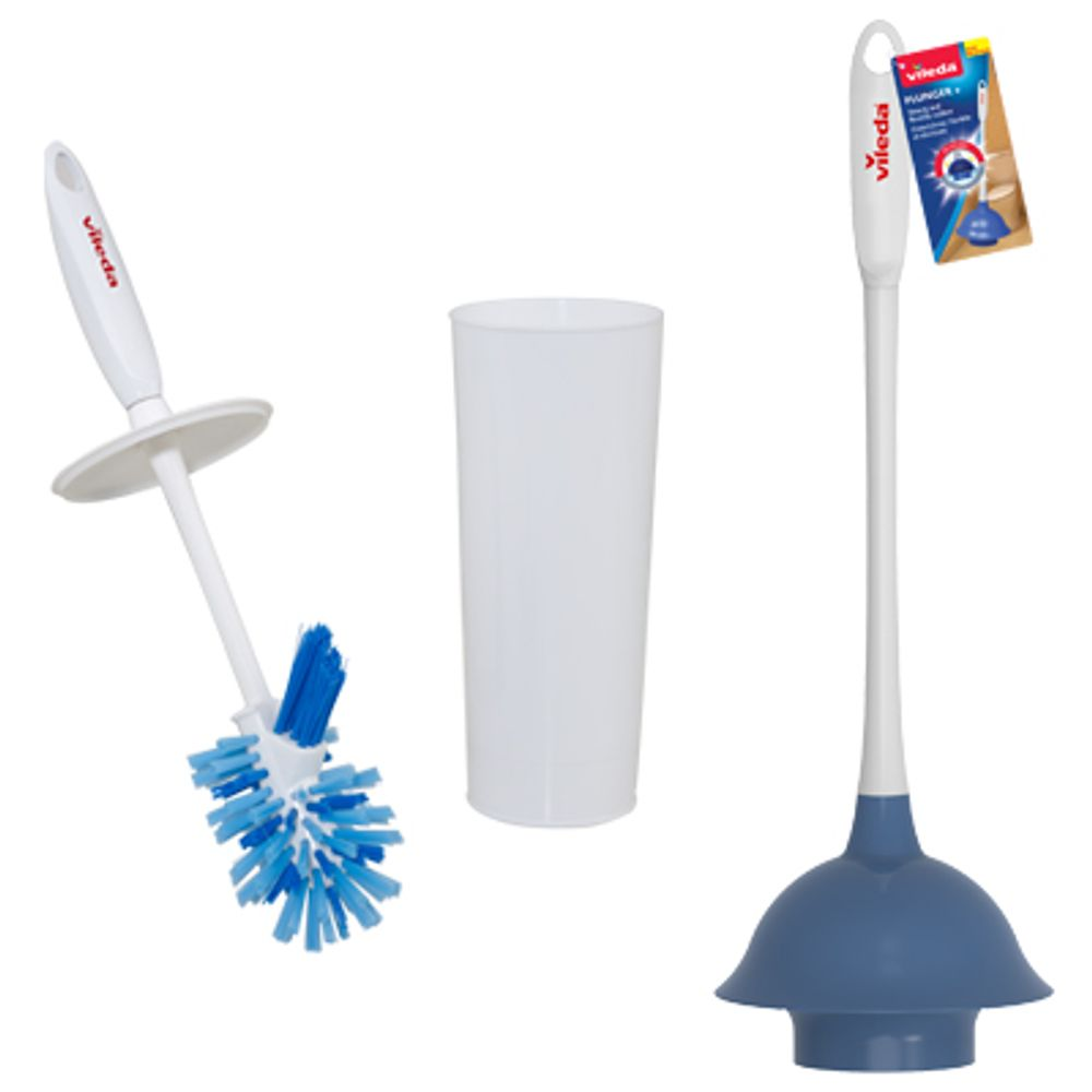 Save $1.00 with the purchase of a Vileda Plunger or a Vileda Toilet Brush with Closed Caddy