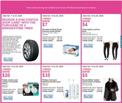 Costco Canada More Savings Weekly Coupons/Flyers for: Quebec, until October 25