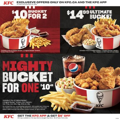 KFC Canada Coupons (ON), until December 20, 2020