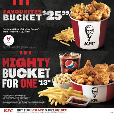 KFC Canada Coupons (YT), until December 20, 2020