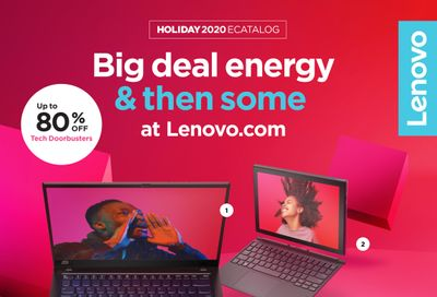 Lenovo Black Friday and Cyber Monday Deals Flyer November 16 to December 6, 2020