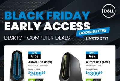 Dell Black Friday Early Access Flyer November 27 to 30