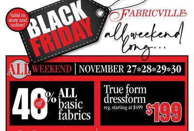 Fabricville Black Friday Flyer November 27 to 30