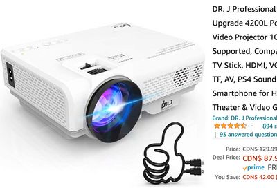 Amazon Canada Pre Black Friday Deals: Save 32% on DR. J Professional Portable Video Projector + 26% on SharkNinja Professional Blender + More HOT Offers