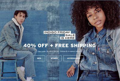 Levi's Canada Indigo Black Friday 2020 Sale: Save 40% Off Everything + FREE Shipping Using Coupon Code!