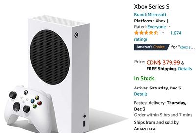 Amazon Canada Black Friday HOT Offer: Get Xbox Series S for $379.99, Hurry!
