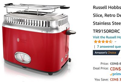 Amazon Canada Pre Black Friday Deals: Save 40% on Russell Hobbs Toaster, 2 Slice +  on Bomaker WiFi Mini Projector + More Offers