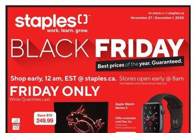 Staples Black Friday Flyer November 25  to December 1, 2020