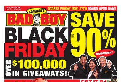 Lastman's Bad Boy Superstore Black Friday Flyer November 26 to December 10, 2020