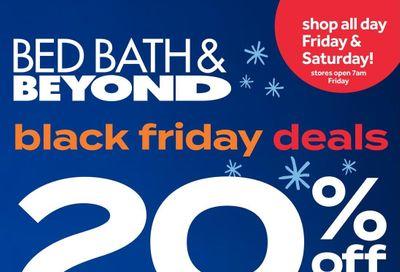 Bed Bath & Beyond Black Friday Flyer November 26 to 30, 2020