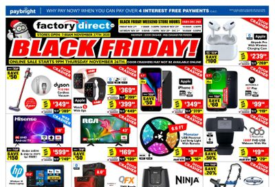 Factory Direct Black Friday Flyer November 27 to December 2, 2020
