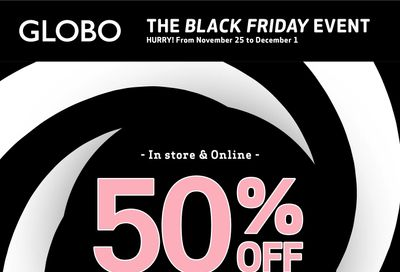 Globo Shoes Black Friday Flyer November 25 to December 1, 2020