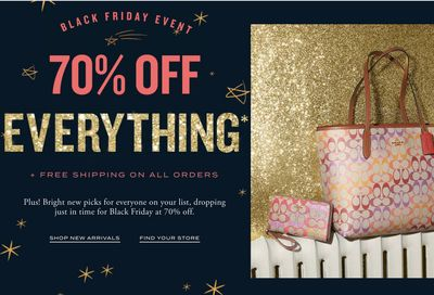 Coach Outlet Black Friday 2020 Sale: Save 70% Off Everything Sitewide + FREE Shipping