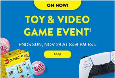 Walmart Canada Black Friday 2020 Toy & Video Game Event Sale is ON NOW
