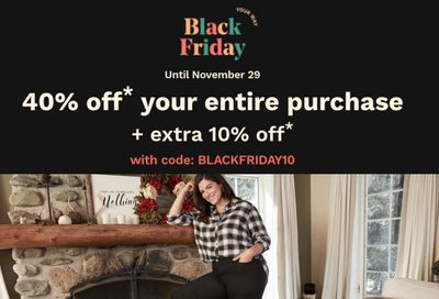 Penningtons Canada Black Friday 2020 Sale *LIVE*: Save 40% Off Everything Sitewide + Extra 10% Off Your Purchase Using Coupon Code + FREE Shipping on All Orders