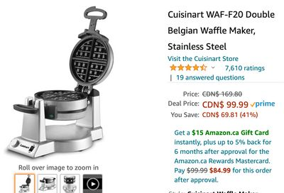 Amazon Canada Black Friday Deals: Save 41% on Cuisinart Waffle Maker + 55% on SharkNinja Ultra-Light Vacuum + 33% on Husqvarna Automower Robotic Lawn Mower + More HOT Offers