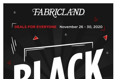 Fabricland (West) Black Friday Flyer November 26 to 30, 2020