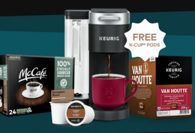 Keurig Canada Black Friday Sale: FREE 48 K-Cup Pods With Purchase Of Coffee Maker + 25% Off All Beverages & Accessories Using Promo Code& More