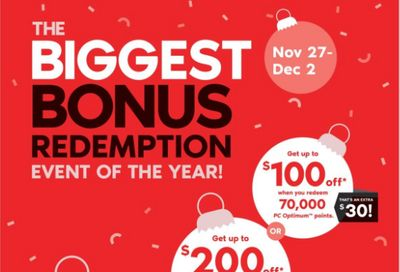 Shoppers Drug Mart Canada Black Friday Sale: The Biggest Bonus Redemption Event of the Year: Save up to $400 Off + Get 20X The Points + 2 Day Sale