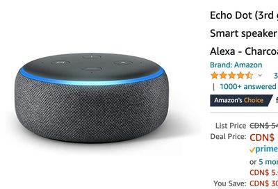Amazon Canada Black Friday Deals: Save 55% on Echo Dot (3rd Gen) – Smart speaker + 52% on Levi's Men's Jacket + 74% on Select Xbox Games + More HOT Offers