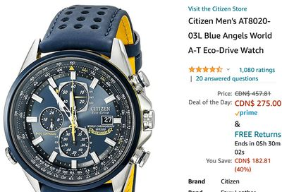 Amazon Canada Black Friday Deals: Save 40% on Citizen Men's Watch + 34% on eufy Robot Vacuum Cleaner + 30% on Ring Smart Lighting + More HOT Offers