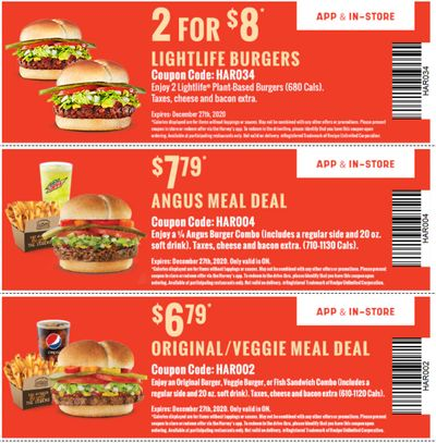 Harvey's Canada Coupons(ON): until December 27