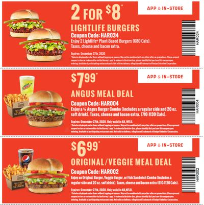 Harvey's Canada Coupons(NFLD): until December 27