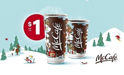 $1 any size brewed coffee at McDonald's Canada