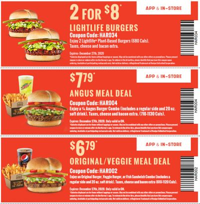 Harvey's Canada New Digital Coupons: Two Lightlife Burger for $8 + More Deals