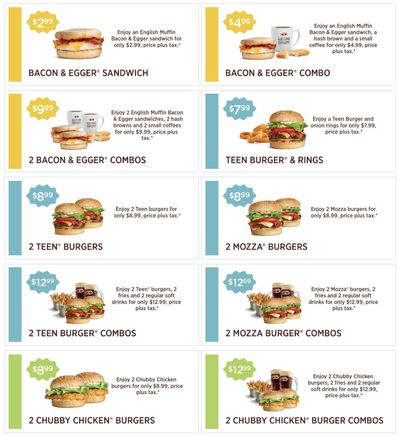 A&W Canada New Coupons: Bacon & Egger Sandwich for $2.99 + 2 Teen Burgers for $8.99 + More Coupons