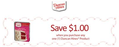 Canadian Coupons: Save $1 On Any Duncan Hines Products