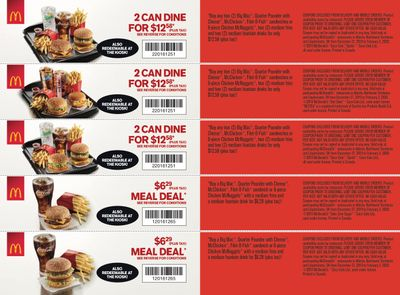 McDonald's Canada Coupons (AB) December 27 to February 2