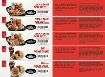 McDonald's Canada Coupons (BC, YT) December 27 to February 2