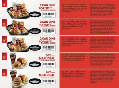 McDonald's Canada Coupons (MB) December 27 to February 2