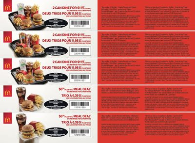 McDonald's Canada Coupons (ON) December 27 to February 2