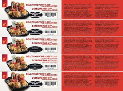 McDonald's Canada Coupons (QC) December 27 to February 2