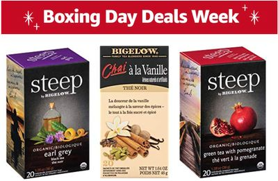 Amazon Canada Boxing Day Deals Week: Save up to 44% on Bigelow Tea variety + 40% on Couple Ring Bridal Set + More Deals