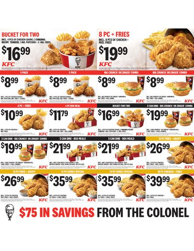 KFC Canada Coupons (YT), until March 1