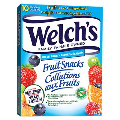 Save $1.00 On any ONE (1) Box of Welch's Fruit Rolls (any flavour, 8ct or larger box)