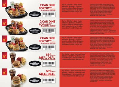 McDonald's Canada Coupons (ON) Valid until February 7